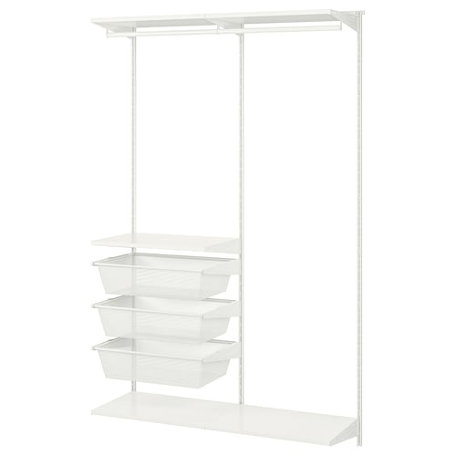 """BOAXEL 2 section shelving unit white 48 """" 15 3/4 """" 79 """""""
