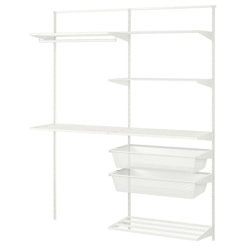 """BOAXEL 2 section shelving unit white 63 3/4 """" 15 3/4 """" 79 """""""