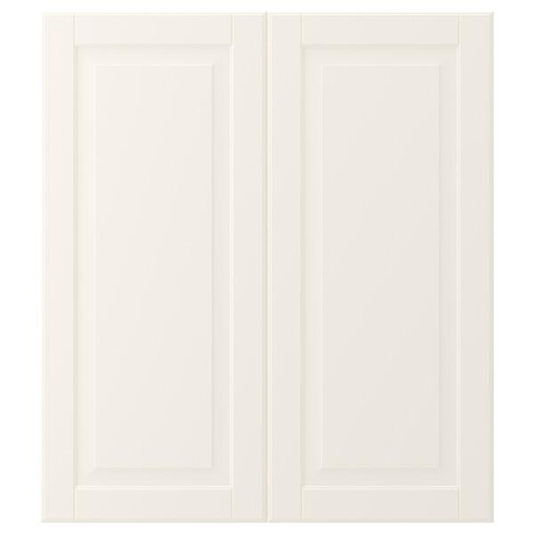 BODBYN 2-p door/corner base cabinet set, off-white
