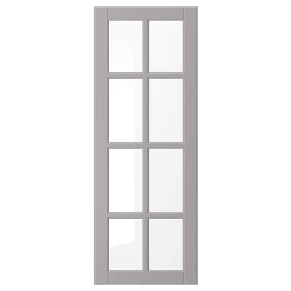 "BODBYN glass door gray 14 7/8 "" 40 "" 15 "" 39 7/8 "" 3/4 """