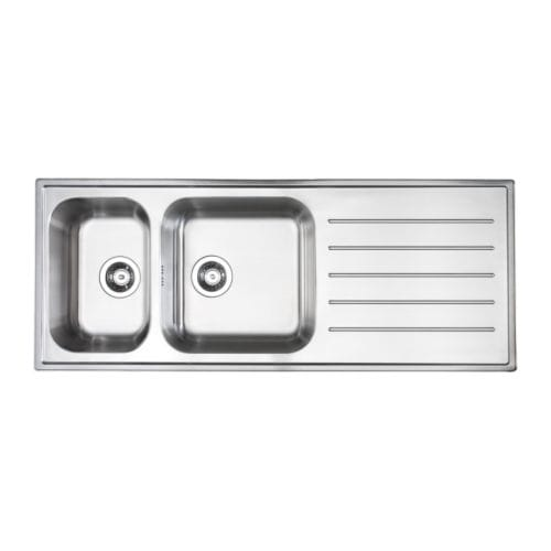 BOHOLMEN 2 bowl inset sink with drainer   25-year Limited Warranty.   Read about the terms in the Limited Warranty brochure.