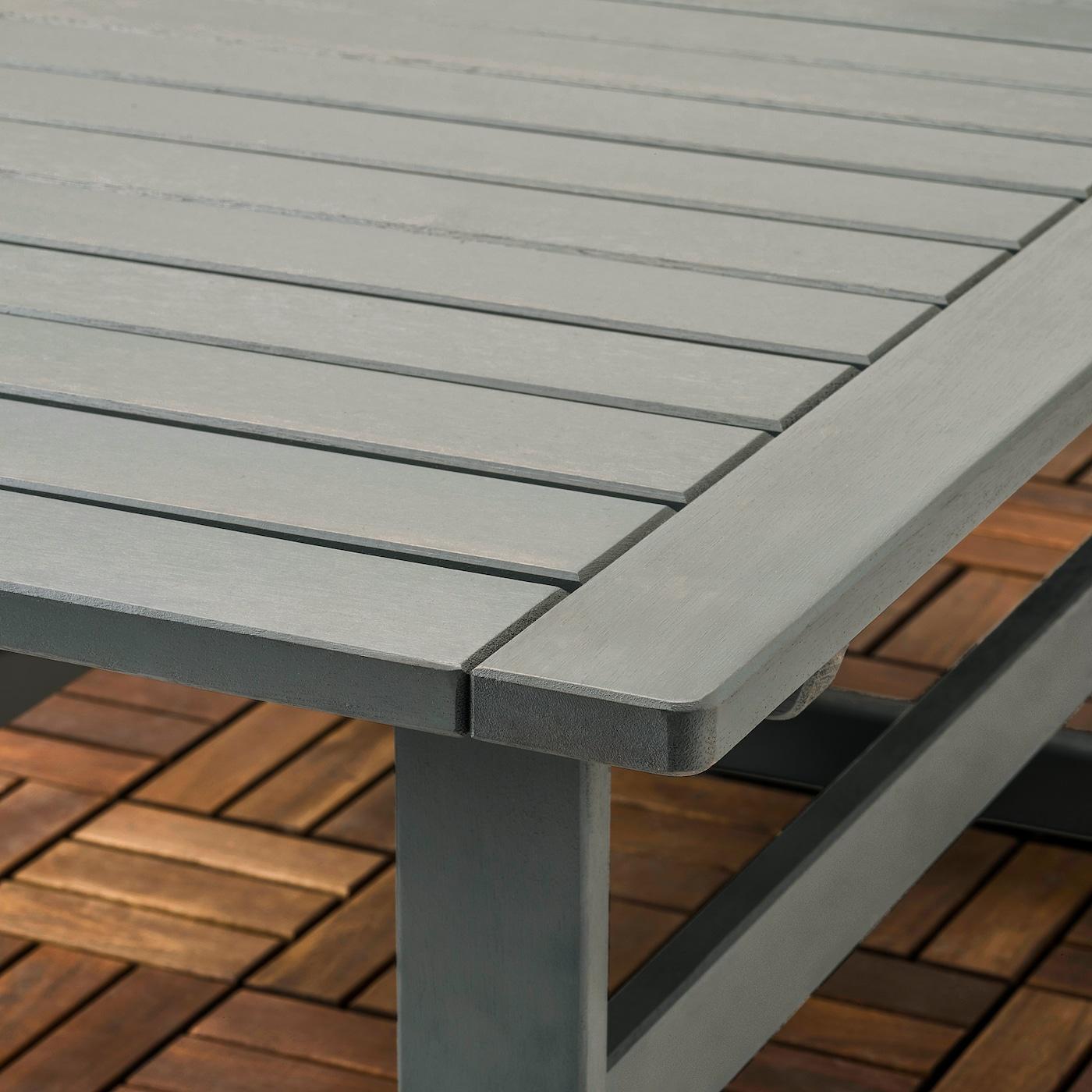 BONDHOLMEN 4-seat conversation set, outdoor, gray stained/Frösön/Duvholmen blue