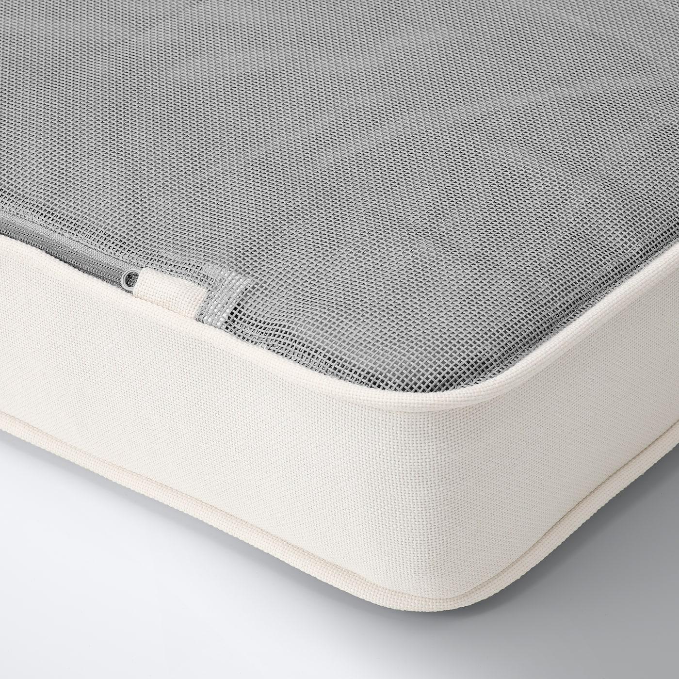 BONDHOLMEN 4-seat conversation set, outdoor, gray stained/Järpön/Duvholmen white