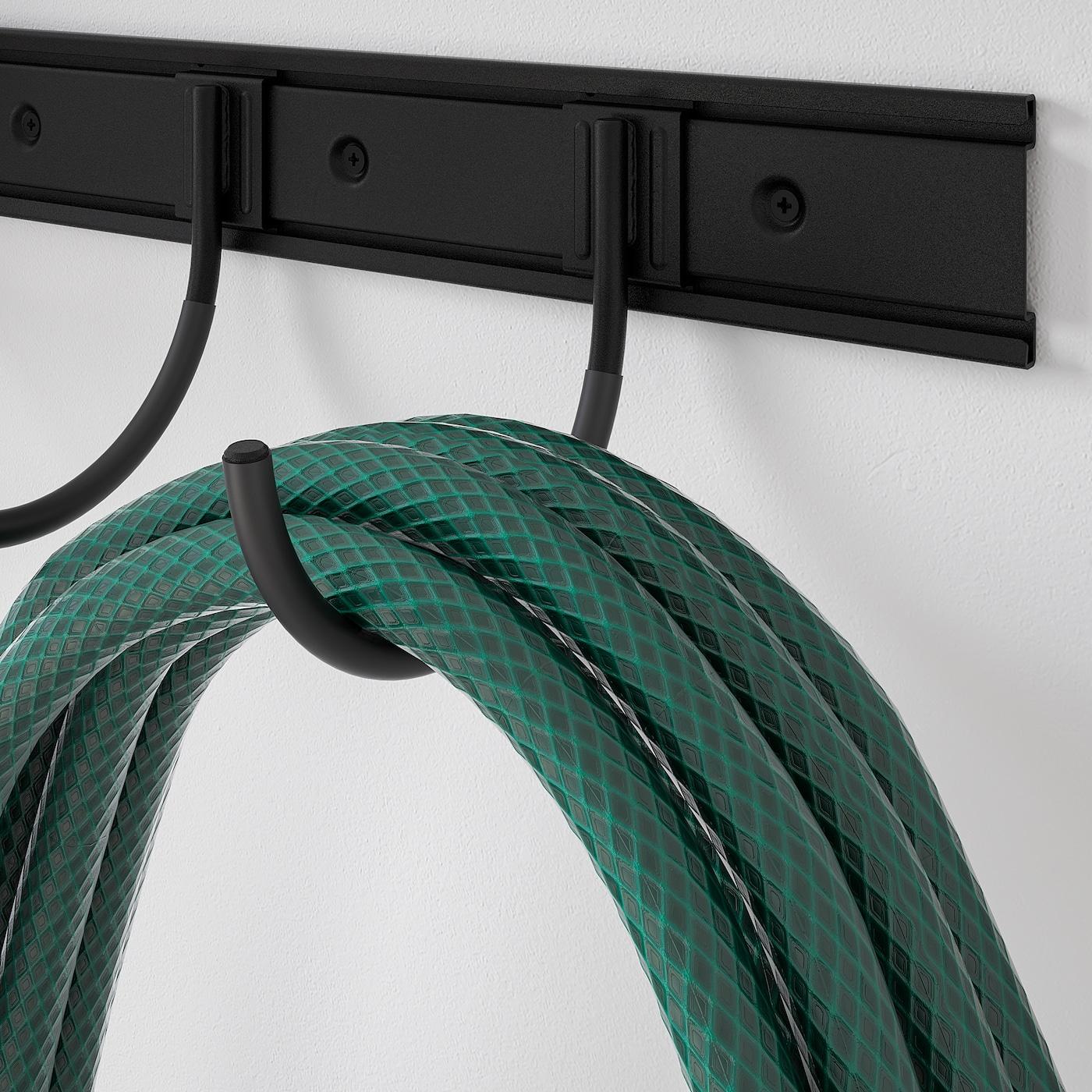 BRANDUR / BROR Shelving unit w 12 rails/12 hooks