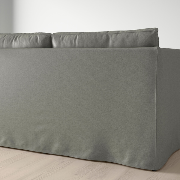 """BRÅTHULT sectional, 3-seat corner Borred gray-green 83 1/2 """" 27 1/8 """" 30 3/4 """" 58 5/8 """" 27 1/2 """" 13 """""""