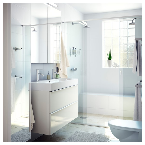 """BRÅVIKEN sink white 39 3/8 """" 39 3/8 """" 18 7/8 """" 3 7/8 """""""
