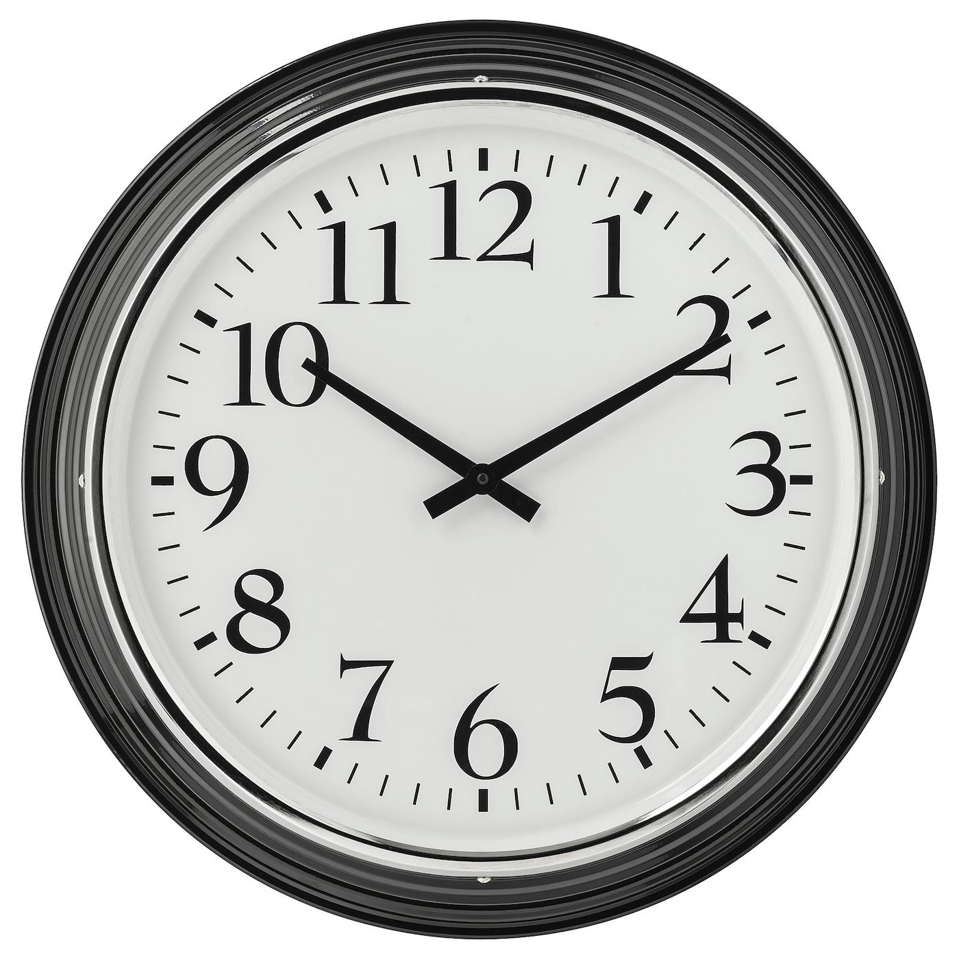 Bravur Wall Clock Black Ikea