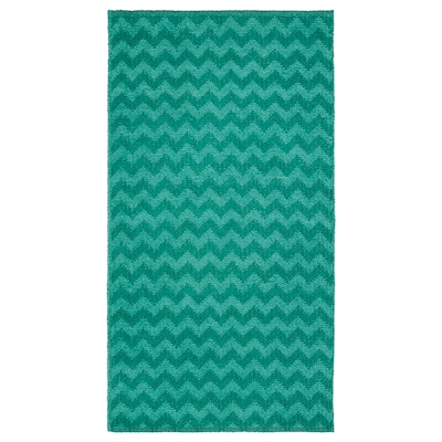 "BREDEVAD Rug, flatwoven, zigzag pattern green, 2 ' 6 ""x4 ' 11 """