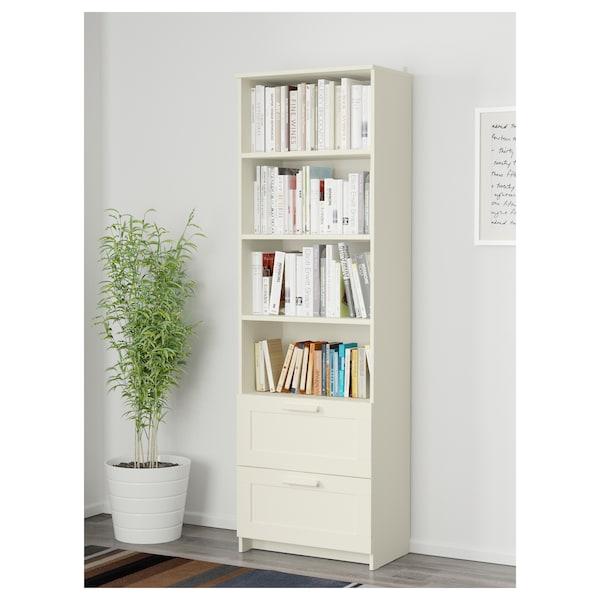 """BRIMNES Bookcase, white, 23 5/8x74 3/4 """""""