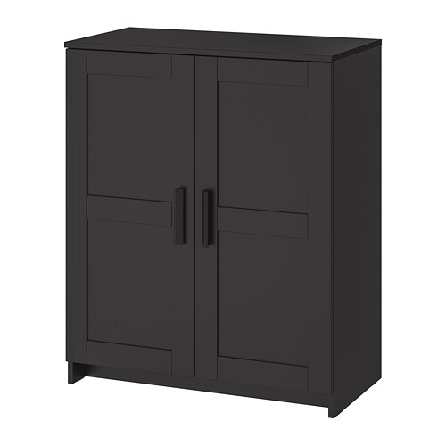 brimnes cabinet with doors black ikea. Black Bedroom Furniture Sets. Home Design Ideas