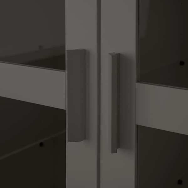 "BRIMNES Cabinet with doors, glass/gray, 30 3/4x37 3/8 """