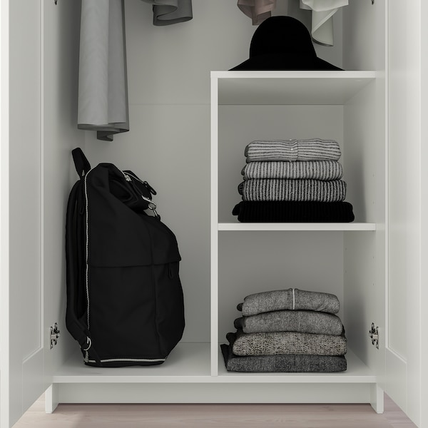 "BRIMNES Wardrobe with 2 doors, white, 30 3/4x74 3/4 """