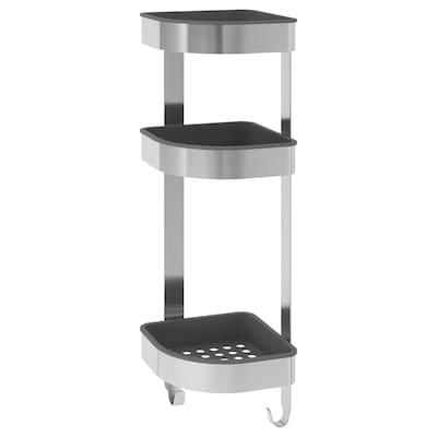 "BROGRUND Corner wall shelf unit, stainless steel, 7 ½x22 ¾ """