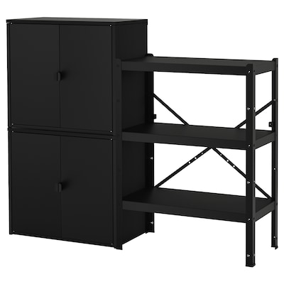 """BROR Shelving unit with cabinets, 63 3/8x15 3/4x52 3/8 """""""