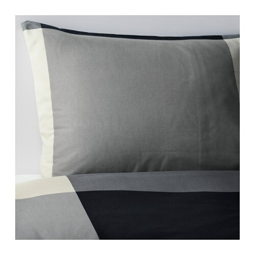 BRUNKRISSLA Duvet cover and pillowcase(s)   Concealed snaps keep the duvet in place.