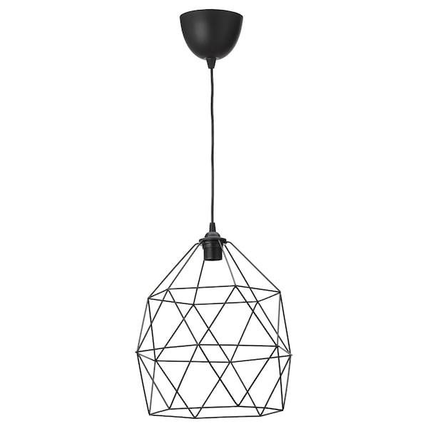"""BRUNSTA / HEMMA Pendant lamp, black, 12 """""""