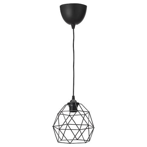 """BRUNSTA / HEMMA pendant lamp black 8 """" 8 """" 5 ' 11 """""""