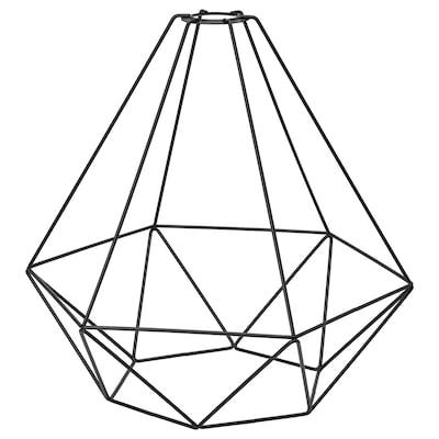 "BRUNSTA Pendant lamp shade, black, 13 3/4 """