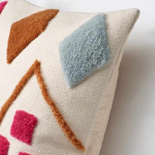 "BRUNSTARR Cushion cover, natural/multicolor, 20x20 """