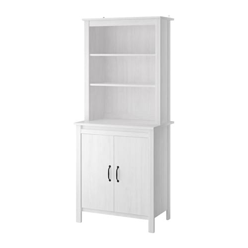 brusali high cabinet with doors adjustable shelves so you can