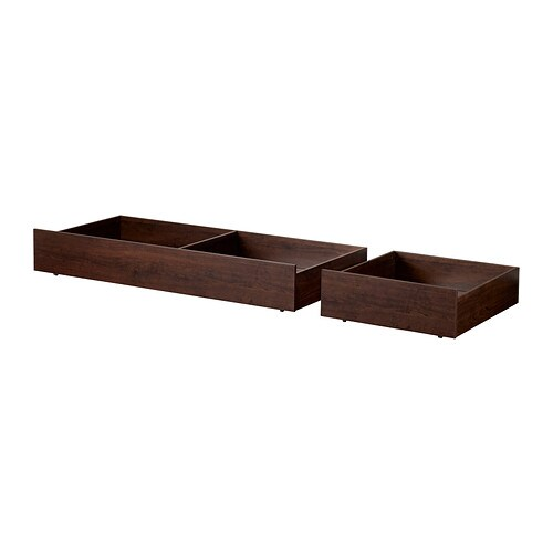 Brusali Underbed Storage Box Set Of 2 Brown Full