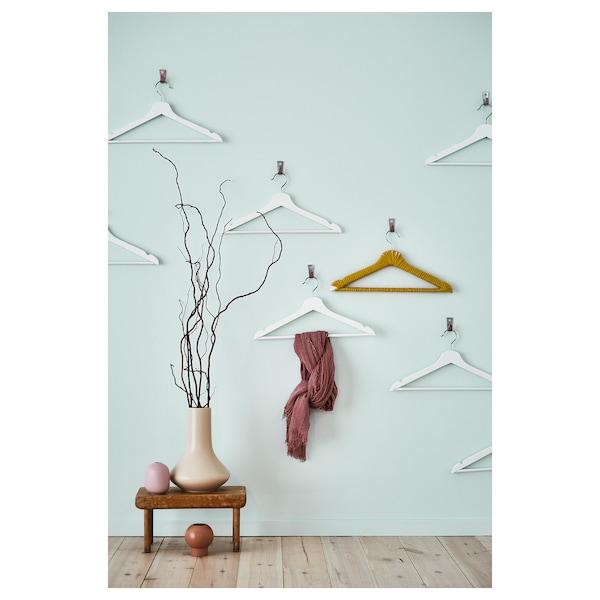 """BUMERANG hanger white 16 7/8 """" 9/16 """" 8 pack"""
