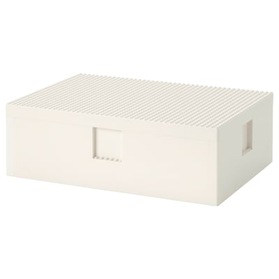 BYGGLEK LEGO® box with lid, 13 3/4x10x4 1/2 ""