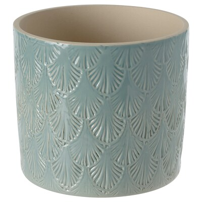 CHIAFRÖN Plant pot, indoor/outdoor light blue, 4 ¾ ""