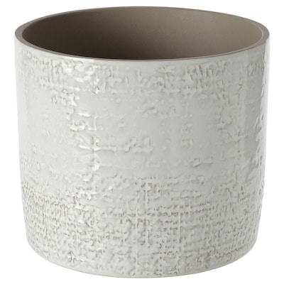 "CHIAFRÖN Plant pot, indoor/outdoor white, 6 """