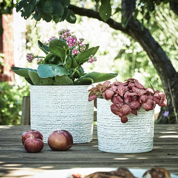 "CHIAFRÖN Plant pot, indoor/outdoor white, 4 ¾ """