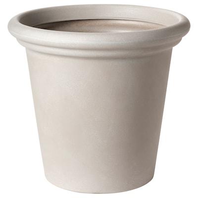 """CHILIPEPPAR Plant pot, indoor/outdoor beige, 16 ¼ """""""