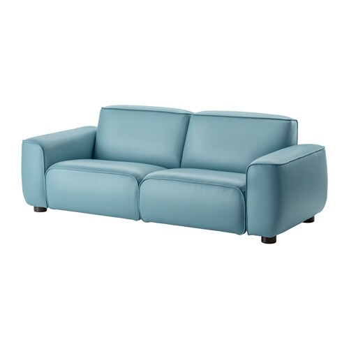 Dagarn sofa kimstad turquoise ikea for Ikea leather loveseat