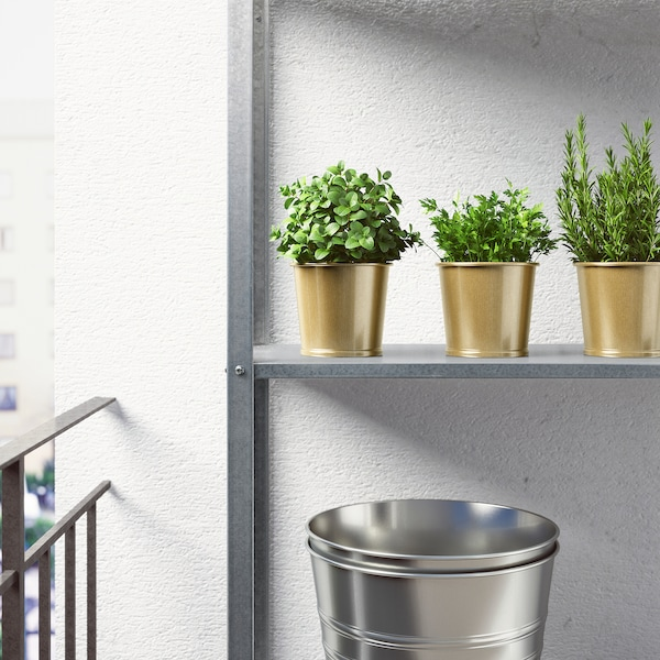 "DAIDAI Plant pot, brass color, 4 ¼ """