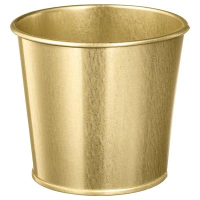 "DAIDAI plant pot brass color 4 "" 4 ¾ "" 4 ¼ "" 4 ¼ """