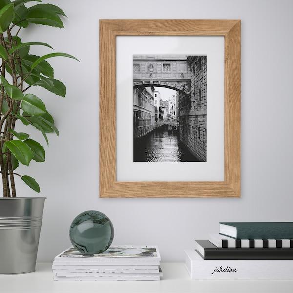 """DALSKÄRR Frame, wood effect/light brown, 12x16 """""""