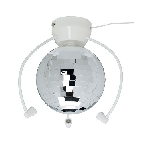 DANSA Disco ball with LED light   Lights up your child's room and transforms it into a disco, with a unique atmosphere for fun birthday parties.