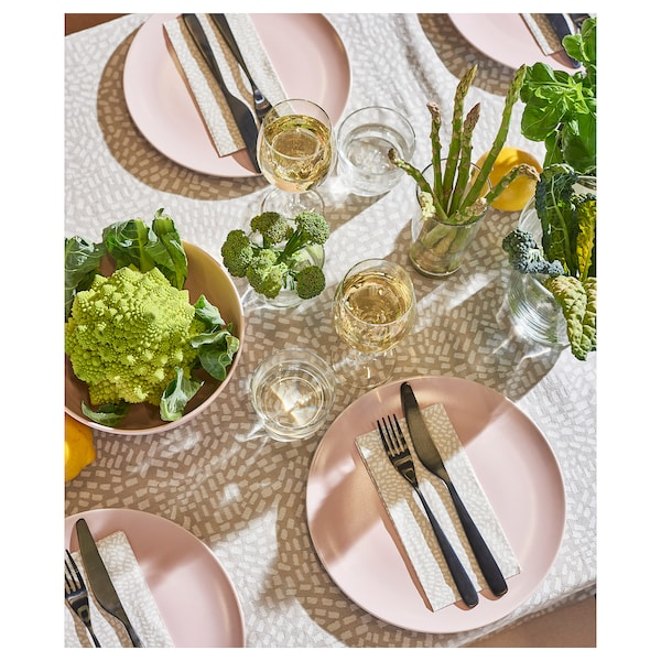 DINERA 18-piece dinnerware set light pink