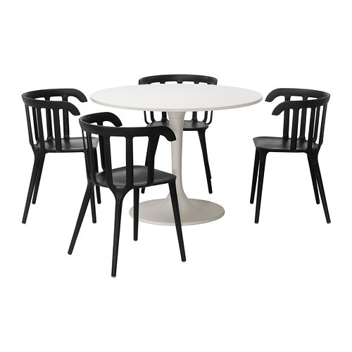 DOCKSTA / IKEA PS 2012 Table and 4 chairs   A round table with soft edges gives a relaxed impression in a room.