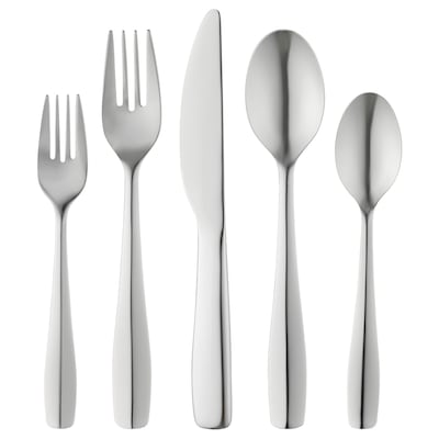 DOFTSAM 20-piece cutlery set, stainless steel
