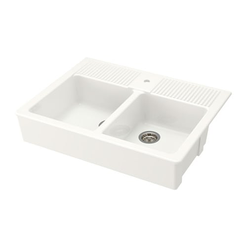 Double Bowl Apron Front Sink : DOMSJ? Double bowl apron front sink 25-year Limited Warranty. Read ...