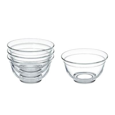 "DRÖMBILD Bowl, clear glass, 4 ½ """