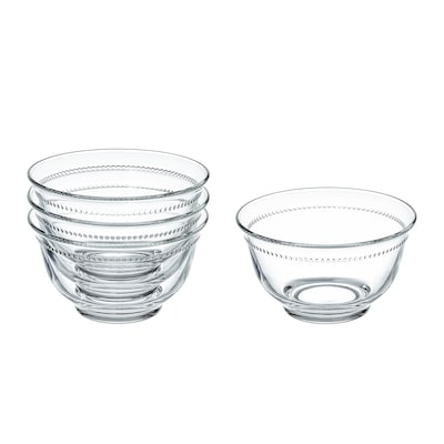 "DRÖMBILD bowl clear glass 3 "" 4 ½ "" 4 pack"