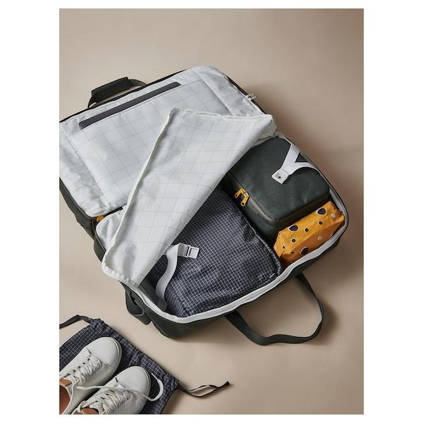 DRÖMSÄCK Weekend bag, olive-green, 11 gallon