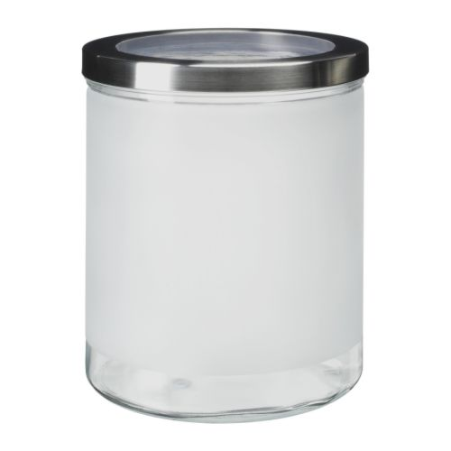 DROPPAR Jar with lid   Transparent in parts; makes it easy to find what you're looking for, no matter where the jar is placed.