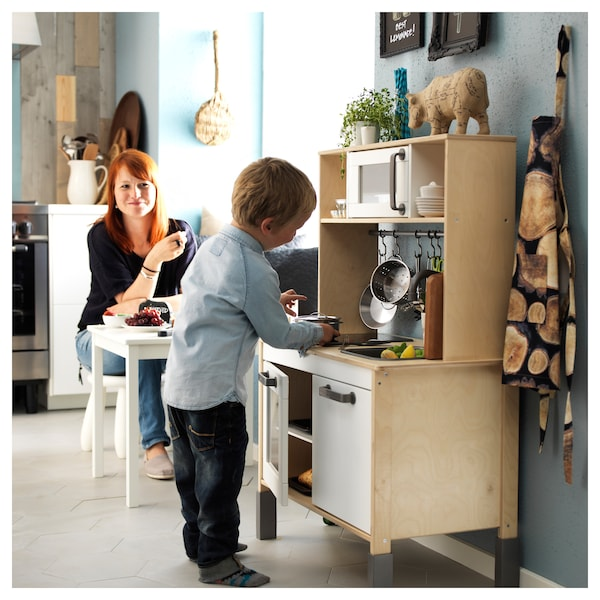 DUKTIG Play kitchen, birch, 28 3/8x15 3/4x42 7/8 ""