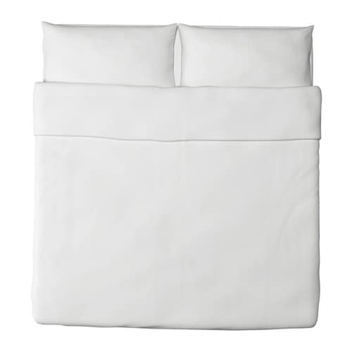DVALA Duvet cover and pillowcase(s) IKEA Made in 100% cotton, a natural and durable material that becomes softer with every wash.