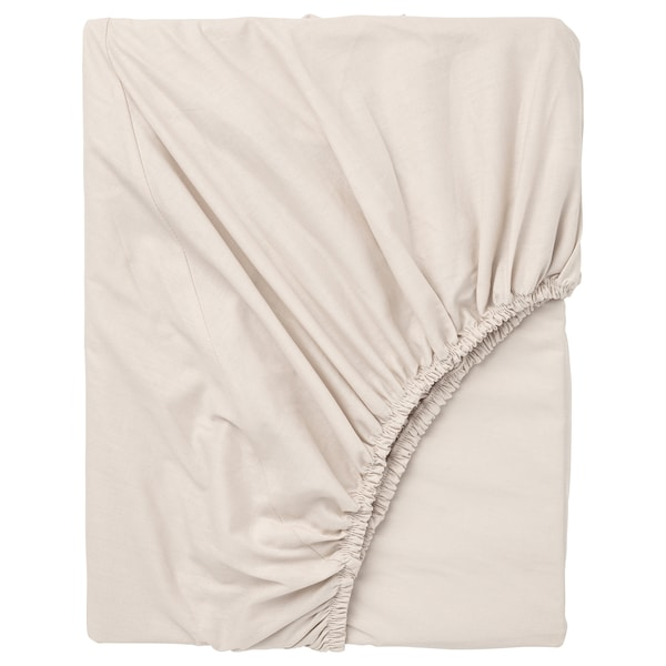 DVALA Fitted sheet, beige, Queen