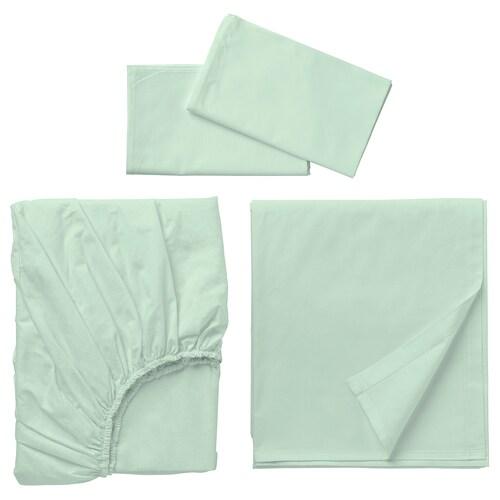 "DVALA sheet set light green 152 square inches 53 "" 74 "" 2 pack 30 "" 20 "" 79 "" 102 "" 10 """