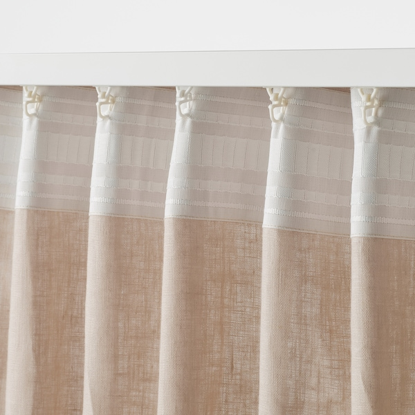 "DYTÅG Curtains, 1 pair, beige, 57x98 """