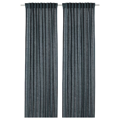 DYTÅG Curtains, 1 pair, blue, 57x98 ""